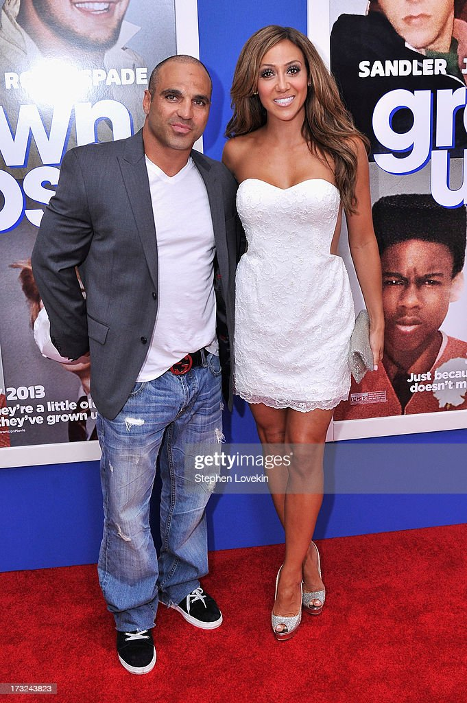 TV personalities Joe Gorga (L) and Melissa Gorga attend the 'Grown Ups 2' New York Premiere at AMC Lincoln Square Theater on July 10, 2013 in New York City.