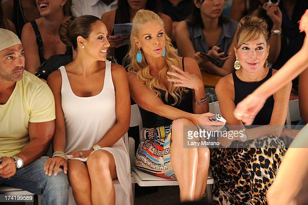 TV personalities Joe Gorga Melissa Gorga Alexia Echevarria and Marysol Patton attend the L*Space By Monica Wise show during MercedesBenz Fashion Week...