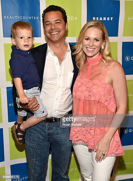 TV personalities John Avlon and Margaret Hoover with their son attend Jessica and Jerry Seinfeld host GOOD Foundation's 2016 Bash Sponsored by...