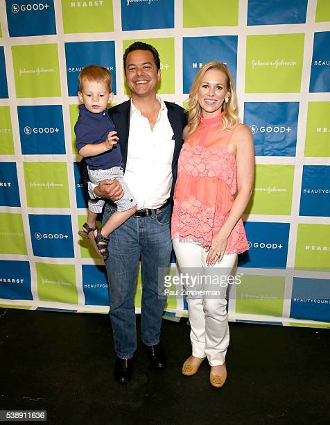TV personalities John Avlon and Margaret Hoover with their son attend the Jessica and Jerry Seinfeld host GOOD Foundation's 2016 Bash Sponsored by...