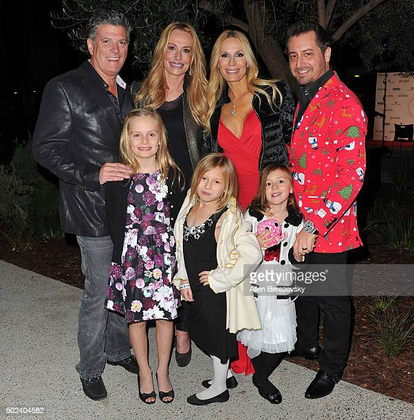 TV personalities John H Bluher Taylor Armstrong Peggy Tanous Micah Tanous and kids Kennedy Armstrong London Tanous and Capri Tanous attend the OC...