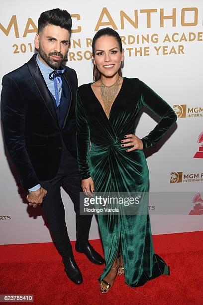TV personalities Jomari Goyso and Karina Banda attend the 2016 Person of the Year honoring Marc Anthony at the MGM Grand Garden Arena on November 16...