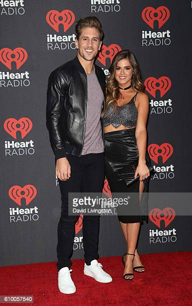 TV personalities Jordan Rodgers and Jojo Fletcher attend the 2016 iHeartRadio Music Festival Night 1 at TMobile Arena on September 23 2016 in Las...