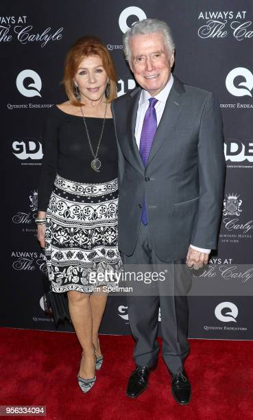 TV personalities Joy Philbin and Regis Philbin attend the New York premiere of 'Always At The Carlyle' at The Paris Theatre on May 8 2018 in New York...