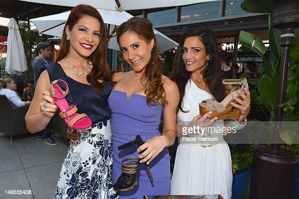 """TV Personalities Julia Allison Amy Laurent and Emily Morse in the Sole Society Shoe Lounge at the season premiere viewing party of Bravo's """"Miss..."""