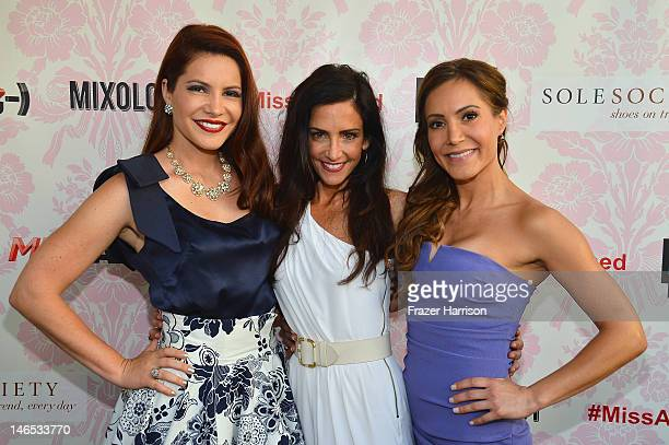 TV Personalities Julia Allison Emily Morse and Amy Laurent attend the season premiere viewing party of Bravo's Miss Advised hosted by Executive...