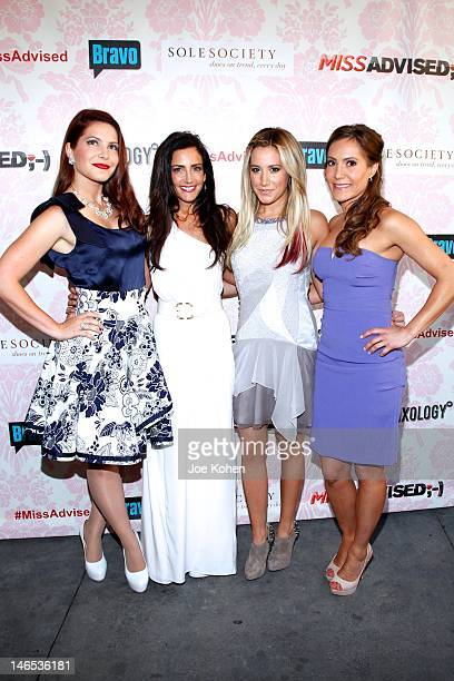 TV Personalities Julia Allison Emily Morse executive producer Ashley Tisdale and TV personality Amy Laurent attend the season premiere viewing party...