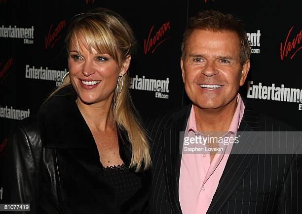 TV personalities Juliet Huddy and Mike Jerrick arrive for the Entertainment Weekly and Vavoom annual upfront party at the Bowery Hotel on May 13 2008...