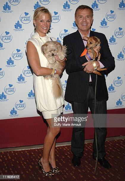 TV Personalities Juliet Huddy and Mike Jerrick attend Animal Care and Control A Party for the Paws at Pressure on September 25 2008 in New York City