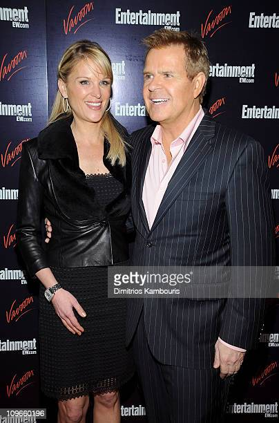 TV personalities Juliet Huddy and Mike Jerrick attend the Entertainment Weekly Vavoom Annual Upfront Party at the Bowery Hotel on May 13 2008 in New...