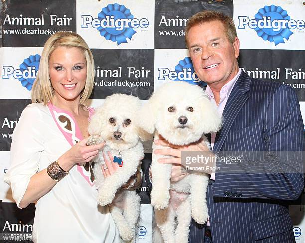 TV personalities Juliet Huddy and Mike Jerrick of Dayside attend Animal Fair Magazine's 3rd annual toys for dogs holiday PSA party at Cibar on...