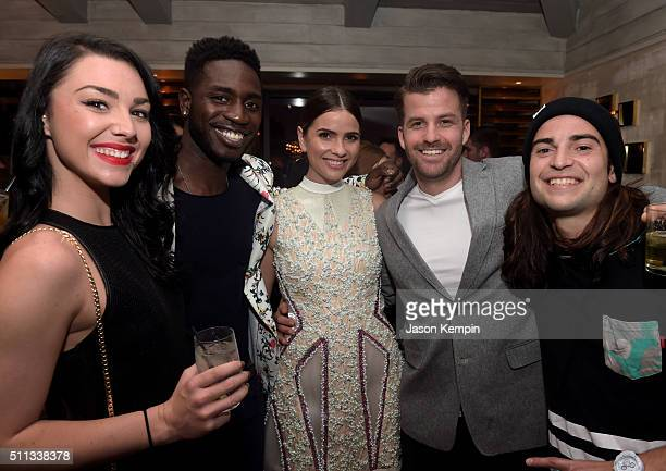 TV personalities Kailah Casillas and Dean BartPlange actress Shelley Hennig and TV personalities Johnny Devenanzio and Dione Mariani attend the MTV...