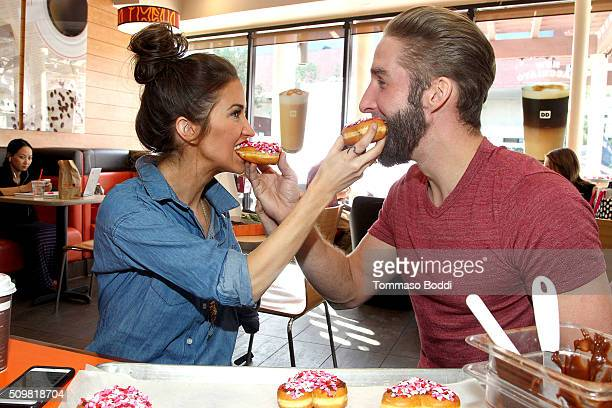 Personalities Kaitlyn Bristowe and Shawn Boothe Celebrate Their 1st Valentine's Day Together With Dunkin' Donuts Heart-Shaped Donuts held at Dunkin...