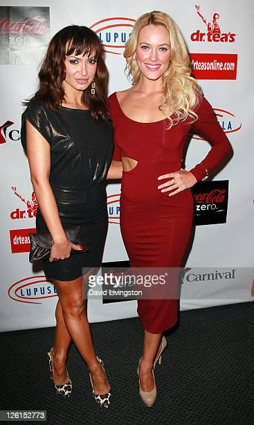 TV personalities Karina Smiroff and Peta Murgatroyd attend the 3rd annual Get Lucky for Lupus LA event at Peterson Automotive Museum on September 22...