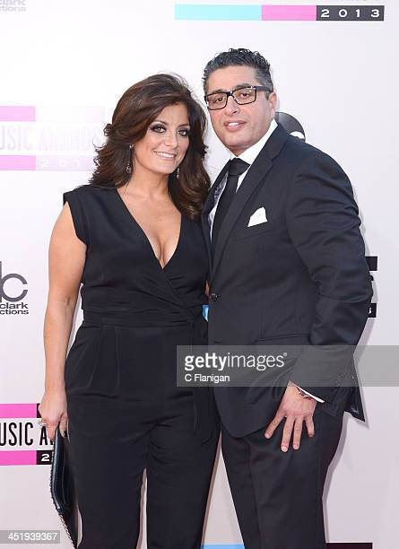 Personalities Kathy Wakile and Richard Wakile arrive at the 2013 American Music Awards at Nokia Theatre LA Live on November 24 2013 in Los Angeles...