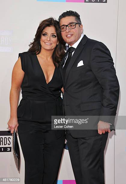 Personalities Kathy Wakile and Richard Wakile attend the 2013 American Music Awards at Nokia Theatre LA Live on November 24 2013 in Los Angeles...