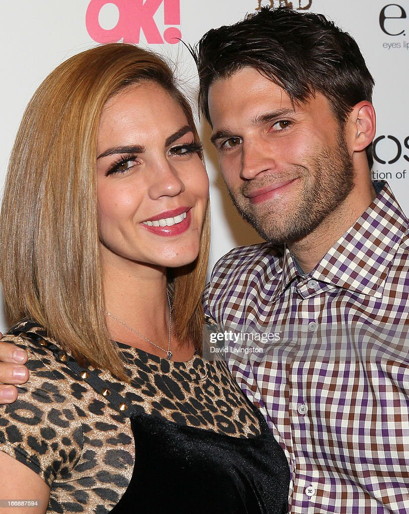 TV personalities Katie Maloney (L) and Tom Schwartz attend the OK! Magazine 'So Sexy' LA party at SkyBar at the Mondrian Los Angeles on April 17, 2013 in West Hollywood, California.