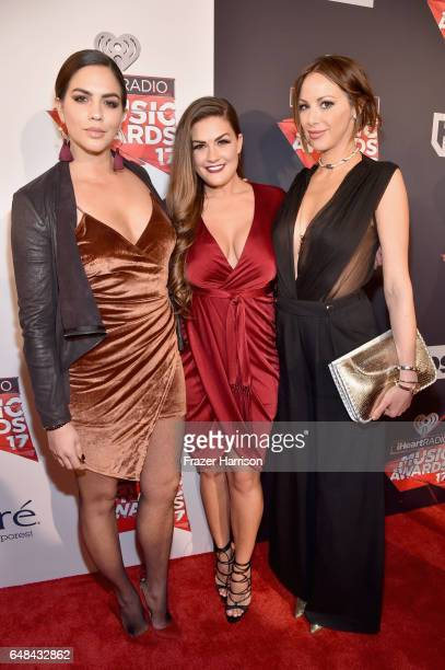 TV personalities Katie Maloney Brittany Cartwright and Kristen Doute attend the 2017 iHeartRadio Music Awards which broadcast live on Turner's TBS...