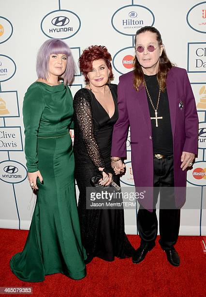 TV personalities Kelly Osbourne and Sharon Osbourne and singer Ozzy Osbourne attend the 56th annual GRAMMY Awards PreGRAMMY Gala and Salute to...