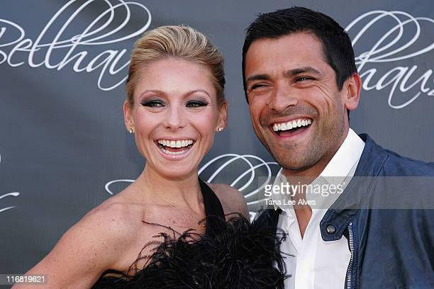 TV Personalities Kelly Ripa and Mark Consuelos attends the Grand Opening Celebration Of Luxury Boutique Bellhaus on May 24 2008 in Wainscott New York