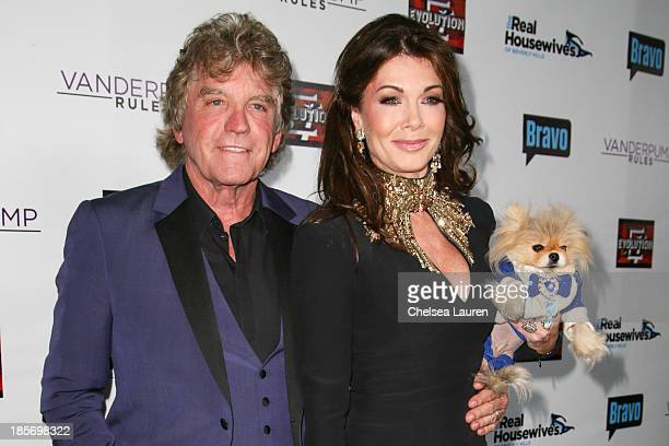 TV personalities Ken Todd Lisa Vanderpump and their dog Giggy arrive at 'The Real Housewives Of Beverly Hills' and 'Vanderpump Rules' premiere party...