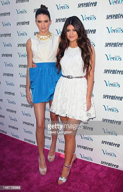 Personalities Kendall Jenner and Kylie Jenner attend Kendall and Kylie Jenner's Celebrate Summer with Seventeen Magazine event at the W Hotel...