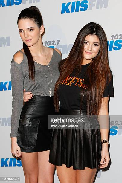 TV personalities Kendall Jenner and Kylie Jenner attend KIIS FM's 2012 Jingle Ball at Nokia Theatre LA Live on December 3 2012 in Los Angeles...