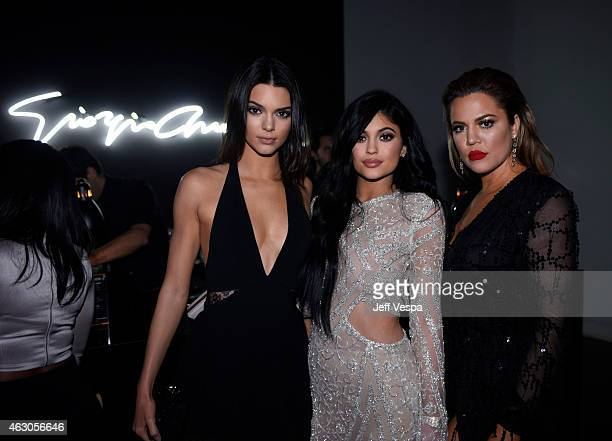 TV personalities Kendall Jenner Kylie Jenner and Khloe Kardashian attend GQ and Giorgio Armani Grammys After Party at Hollywood Athletic Club on...