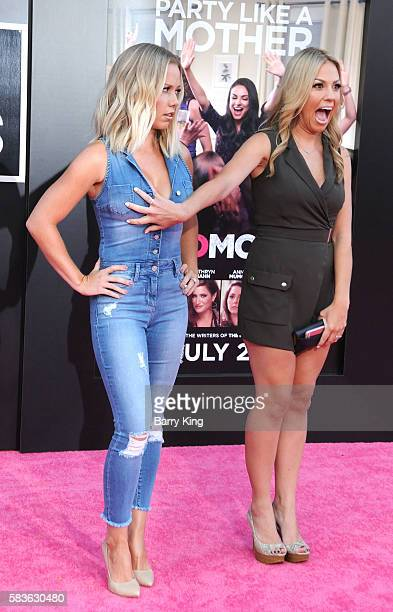 TV personalities Kendra Wilkinson and Jessica Hall attend the premiere of STX Entertainment's' 'Bad Moms' at Mann Village Theatre on July 26 2016 in...
