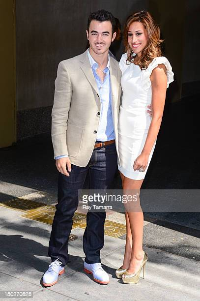 TV personalities Kevin Jonas and Danielle Jonas leave the 'Today Show' taping at the NBC Rockefeller Center Studios on August 13 2012 in New York City