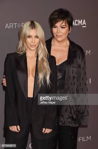 TV personalities Kim Kardashian and Kris Jenner attend the 2017 LACMA Art Film Gala Honoring Mark Bradford and George Lucas presented by Gucci at...