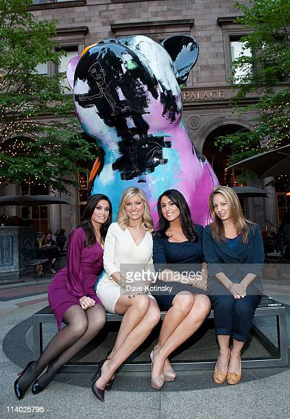 "Personalities Kimberly Guilfoyle, Ainsley Earhardt, Andrea Tantaro and Lauren Glassberg attend Julien Marinetti's ""Doggy John"" exhibition opening at..."