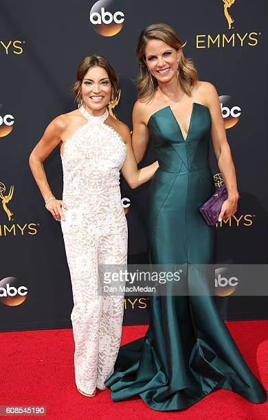TV personalities Kit Hoover and Natalie Morales attend the 68th Annual Primetime Emmy Awards at Microsoft Theater on September 18 2016 in Los Angeles...