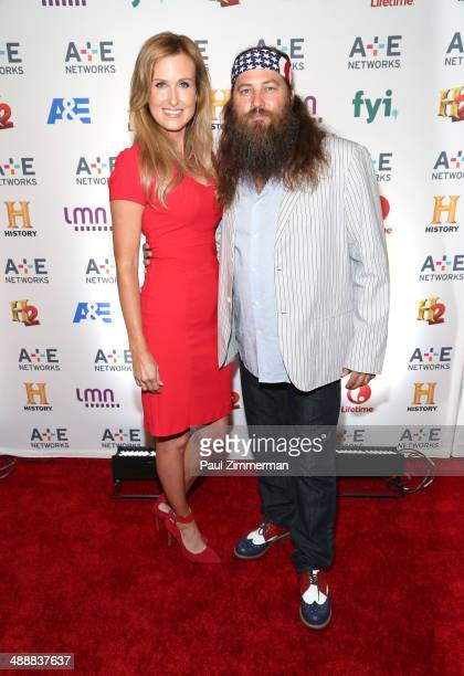 TV personalities Korie Robertson and Willie Robertson attend the 2014 AE Networks Upfront at Park Avenue Armory on May 8 2014 in New York City