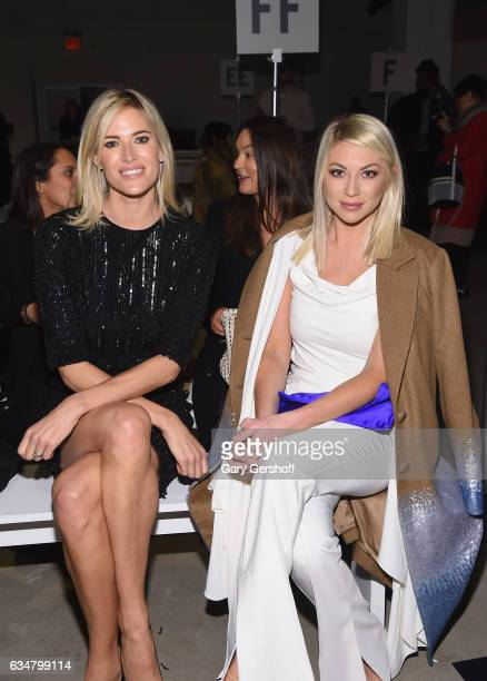 Personalities Kristen Taekman and Stassi Schroeder attend the Georgine fashion show during February 2017 New York Fashion Week at Gallery 2, Skylight...