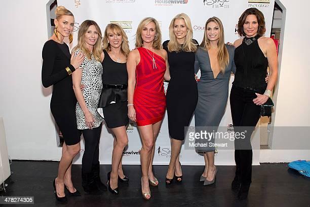 TV personalities Kristen Taekman Carole Radziwill Ramona Singer Sonja Morgan Aviva Drescher Heather Thomson and Countess LuAnn De Lesseps attend the...