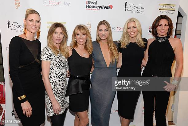 TV personalities Kristen Taekman Carole Radziwill Ramona Singer Sonja Morgan Aviva Drescher Heather Thomson and Countess LuAnn De Lesseps attend the...