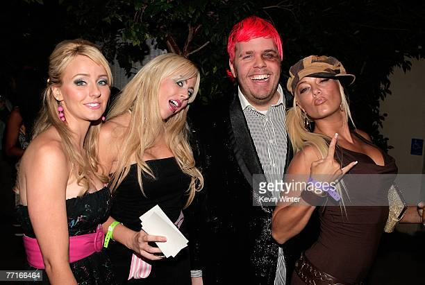 TV personalities Kristia Krueger Brandi C Perez Hilton and Heather Chadwell arrive at the 2007 Fox Reality Channel Really Awards held at Boulevard 3...