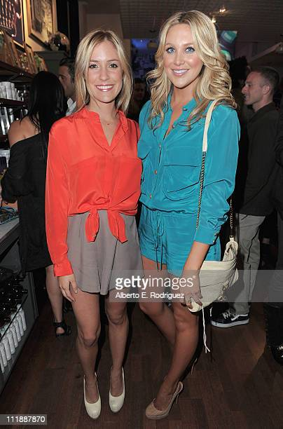 TV personalities Kristin Cavallari and Stephanie Pratt attend the launch of Kiehl's 'Rare Earth Deep Pore Cleansing Masque' on April 7 2011 in Santa...