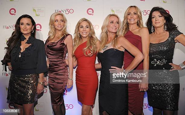 """Personalities Kyle Richards, Camille Grammer, Adrienne Maloof, Kim Richards, Taylor Armstrong and Lisa Vanderpump attends """"FFANY Shoes on Sale""""..."""