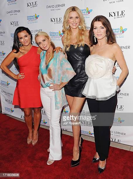 TV personalities Kyle Richards Kim Richards Brandi Glanville and Lisa Vanderpump arrive at Kyle Richards Hosts Fashion Fundraiser Benefitting...