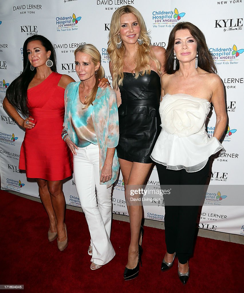 TV personalities Kyle Richards, Kim Richards, Brandi Glanville and Lisa Vanderpump attend a fashion fundraiser benefitting Children's Hospital of Los Angeles hosted by Kyle Richards at Kyle by Alene Too on June 26, 2013 in Beverly Hills, California.