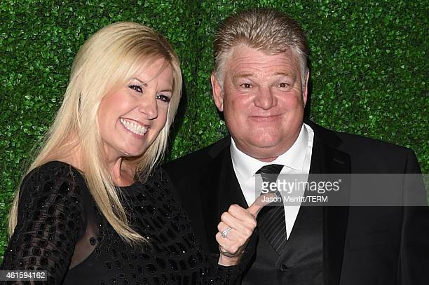 TV personalities Laura Dotson and Dan Dotson attend the 20th annual Critics' Choice Movie Awards at the Hollywood Palladium on January 15 2015 in Los...