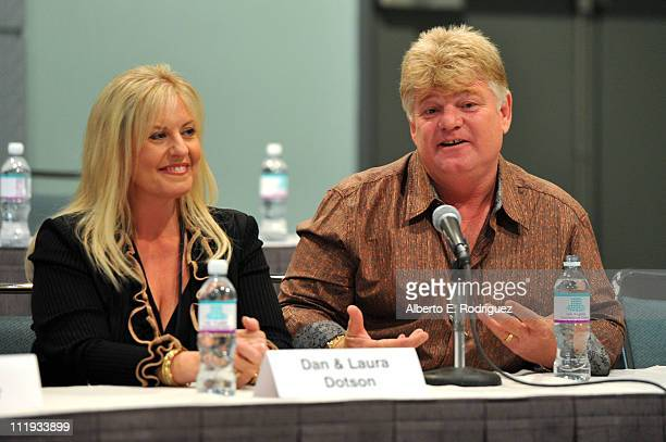 TV personalities Laura Dotson and Dan Dotson speak at Reality Rocks Expo Day 1 at the Los Angeles Convention Center on April 9 2011 in Los Angeles...