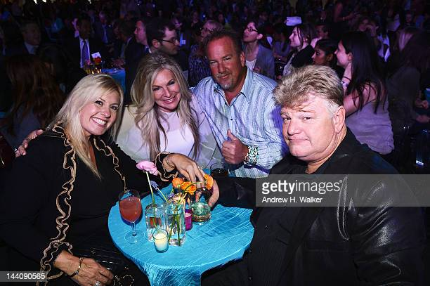 TV Personalities Laura Dotson Kimber Wuerfel Darrell Sheets and Dan Dotson attend the AE Networks 2012 Upfront at Lincoln Center on May 9 2012 in New...
