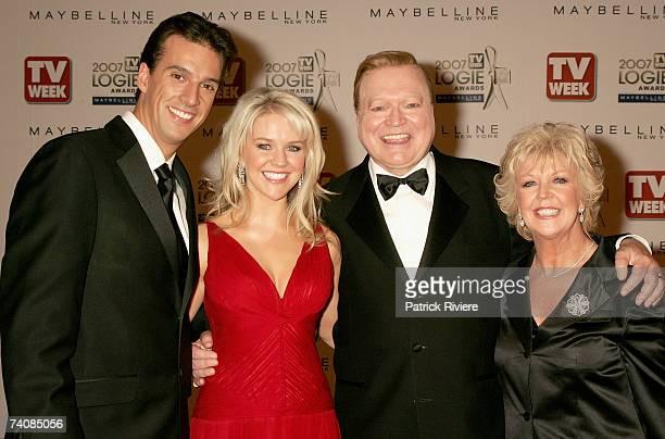 TV personalities Lauren Newton her husband Matt Welsh Lauren's father Bert Newton and his wife Patti Newton arrive at the 2007 TV Week Logie Awards...