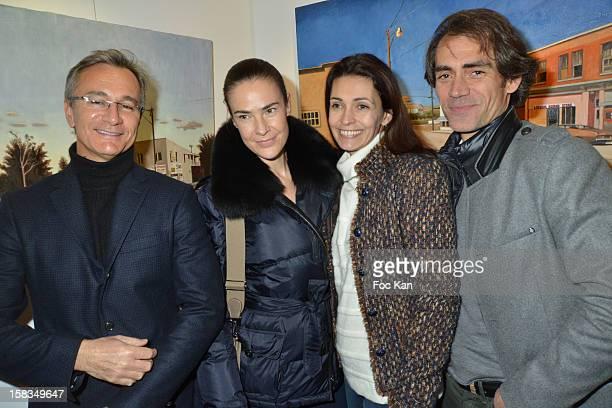 Personalities Laurent Petitguillaume, Benedicte Delmas, Adeline Blondieau and Stephane Boutet attend the 'Amerique: Instantanes' - Laurent Hubert...