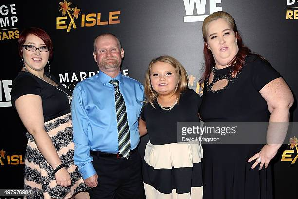 TV personalities Lauryn 'Pumpkin' Thompson Mike 'Sugar Bear' Thompson Alana 'Honey Boo Boo' Thompson and June 'Mama June' Shannon attend We tv's...