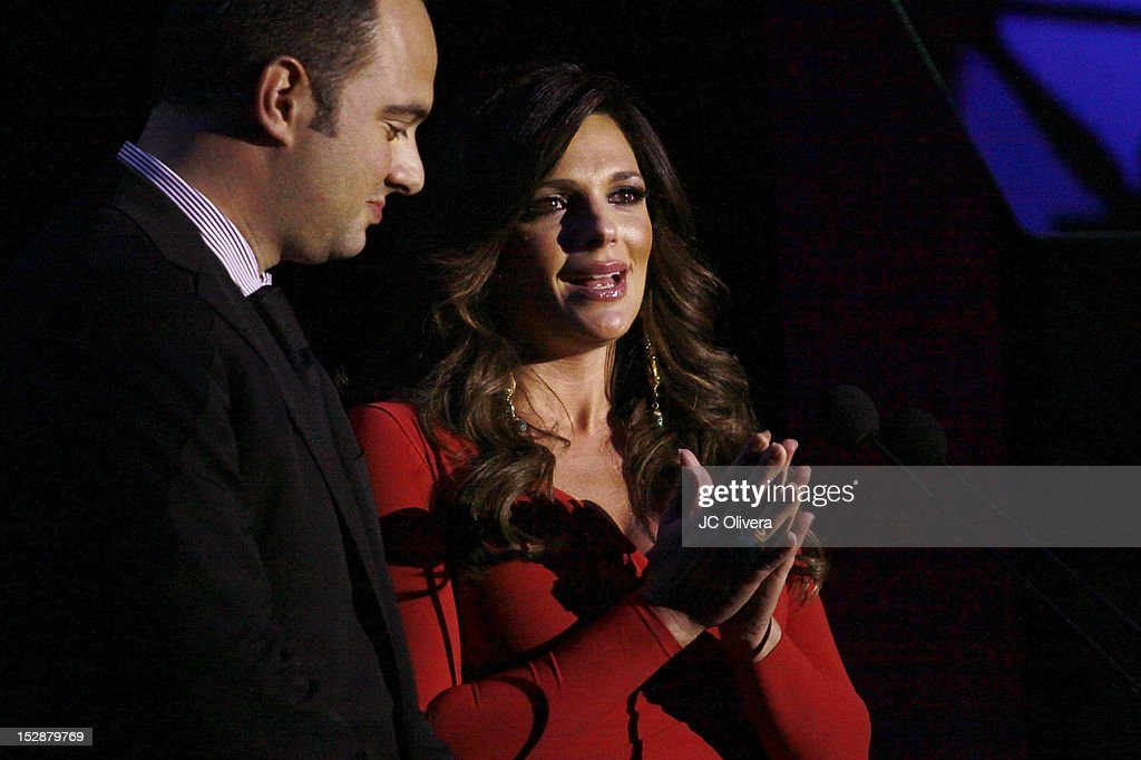 TV Personalities Leon Krauze and Barbara Bermudo speak