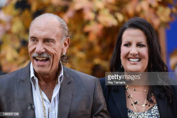 TV personalities Les Gold and Ashley Broad tape an interview at Good Morning America at the ABC Times Square Studios on November 12 2012 in New York...